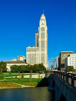 Laveque Tower, Columbus, Ohio, City, Urban, Buildings
