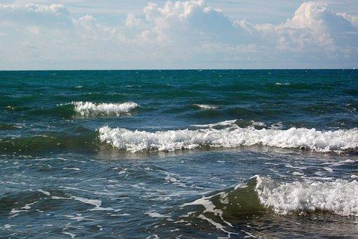 Italy, Tuscany, Marina Di Grosseto, Sea