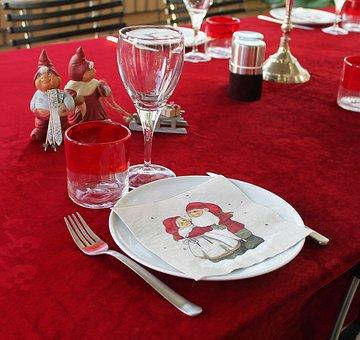 Christmas Table, Table, Christmas, Envelope, Napkins