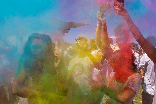 Colors, People, Hilarity, Running, Cant, Happiness