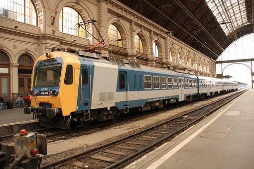 Budapest, Keleti, Railway Station, Railcar, Platform