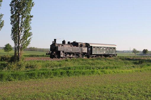 Steam Locomotive, Railway, Row 93, Austria, Bundesbahn