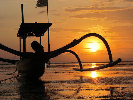 Sanur, Bali, Sunrise, Tropical, Beach, Indonesia
