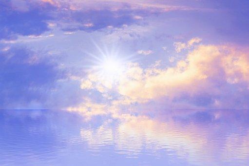 Landscape, Sun, Sky, Reflection, Sunset, Sunset Sky
