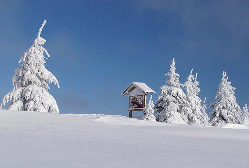 Winter, Mountains, The Ore Mountains, Czech Republic