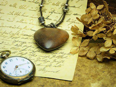Heart, Wood, Clock, Pocket Watch, Time, Digits, Letters
