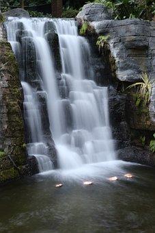 Water Fall, Water, Indoors Waterfall, Waterfall