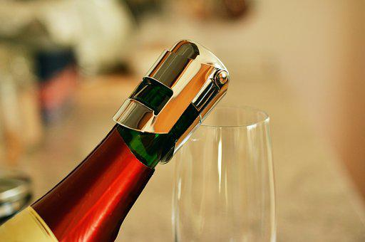 Bottle Of Sparkling Wine, Bottleneck, Closure
