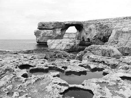 Gozo, Malta, Island, Mediterranean, Coast, Sea, Nature