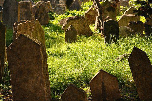 Prague, Jewish Cemetery, Old, Antique, Antiquity, Jew