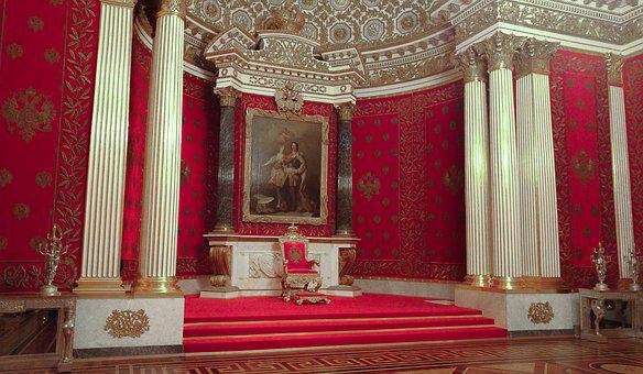 Russia, Palace, Throne, Tsar, Pouchkine