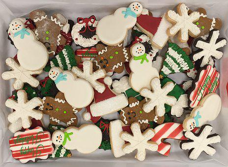 Christmas, Cookies, Snowman, Snowmen, Sugar, Frosted