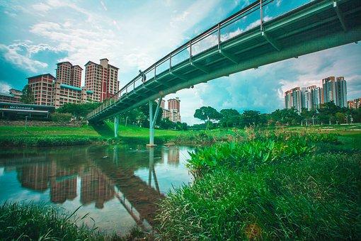 Bridge, Bishan, Park, Bishanpark, Bishanangmokio, Hdb