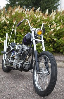 Motorcycle, Constructed In It, Custom, Handlebars