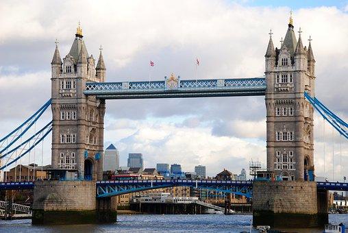 Tower Bridge, London, Bro, The Thames, England