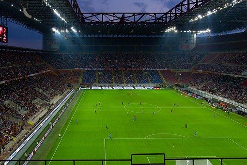 San Siro, Flood Light, Football Match, Football Stadium