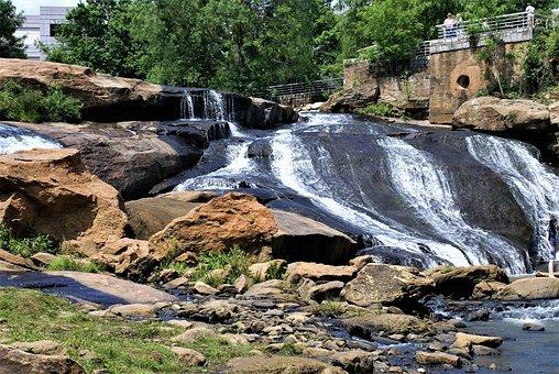 Greenville, Falls, Carolina, Park, South Carolina