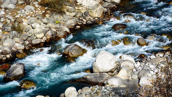 Beas River, River, Beas, Himalayas, Manali, Stream