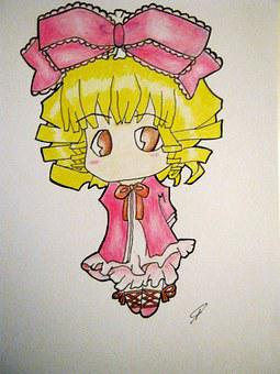 Drawing, Hinaichigo, Artwork, Cute