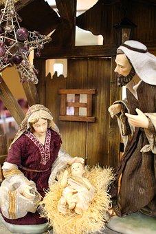 Nativity Scene, Manger, Jesus, Mary, Joseph, Bethlehem