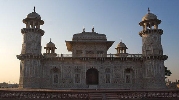 Architecture, India, Taj, Mahal, Agra, Monument