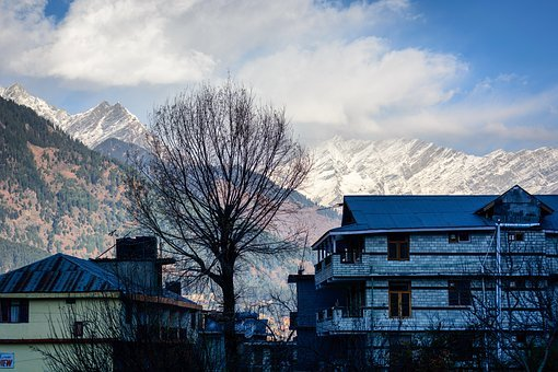 Manali, Himalayas, House, Winter, Quiet, Backdrop