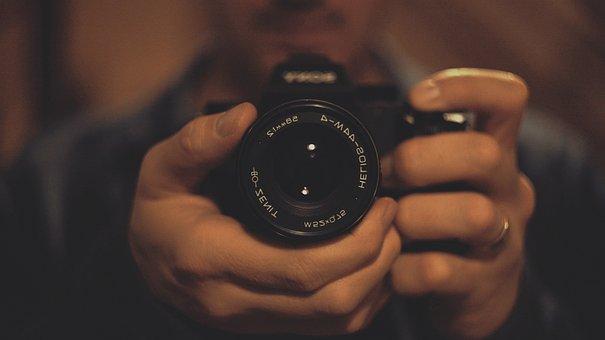 Lens, Helios, Photographer, Reflection, Photo, Mirror