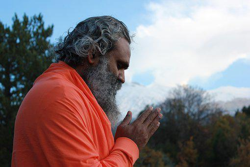 Namaste, Indian, Master, Mountain, Meditation, Prayer