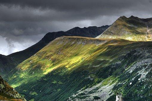 Alpine, Switzerland, Mountains, Grimsel Pass