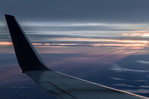 Airplane, Sunset, Sky, Plane, Air, Travel, Transport