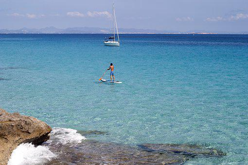 Formentera, Kayak, Island, Spain, Summser, Sea, Horizon