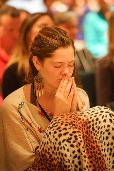 Meditation, Prayer, Spiritual Retreat, Woman, Young