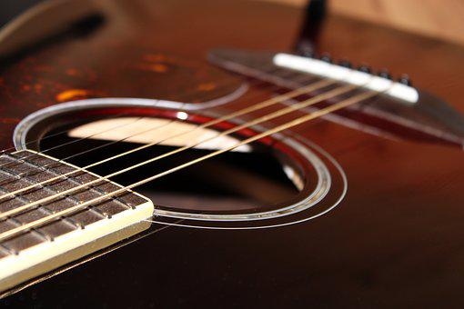 Guitar, Macro, Stringed Instrument, Akkustikgitare