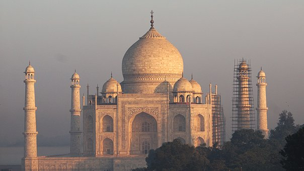 Sunrise, Architecture, India, Taj, Mahal, Agra