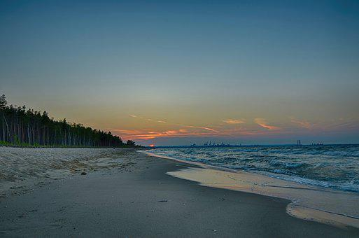 Sea, Gdańsk, Balyk, The Baltic Sea, Sunset, View, Beach