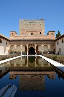 Alhambra, Mirror, Reflexes, Fortress, Moorish