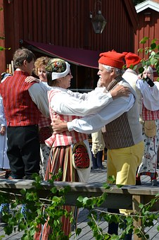 Midsummer Celebration, Tunet, Alno, Summer, Dance