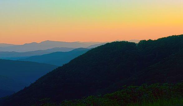 America, Appalachia, Appalachians, Blue, Blue Hour