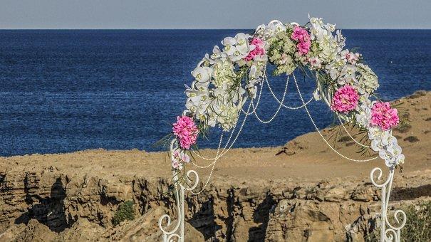 Arch, Garland, Festoon, Wedding, Decoration, Flowers