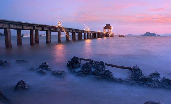 Sea, Water, Peace, Beach, Coast, Thailand, Nature, Blue