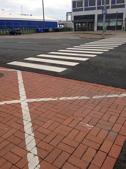 Crosswalk, Road Marking, Bremerhaven, Columbus Kai