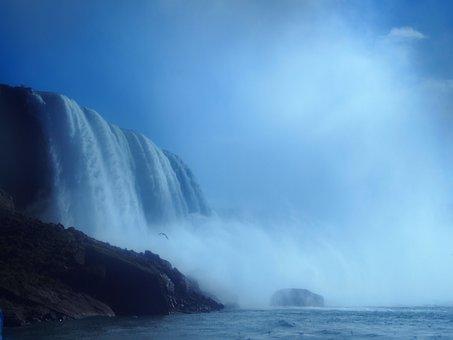Niagara Falls, Falls, Canada, Water, Waterfall, Tourism