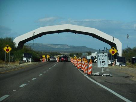 Border Patrol, Check Point, Sign, United States