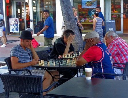 Chess, Playing, People, Thinking, Bored
