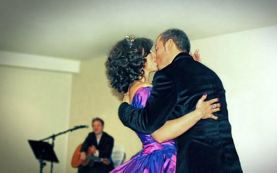 Couple, Wedding, Marriage, Love, Dance, Music, Bride
