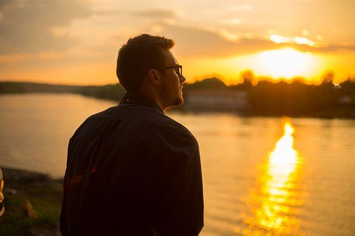 Guy, Sunset, Sun, Dahl, Evening, Sea, Nature, Clouds