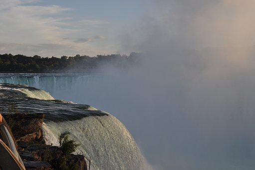 Niagara, Falls, Canada, Waterfall, Mist, Natural