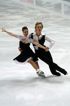 Figure, Skating, Championships, Dancing, Couple, Man