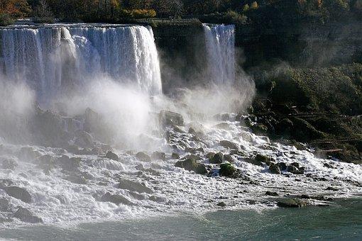 Waterfalls, Niagara Falls, River, Canada, Mist, Flow