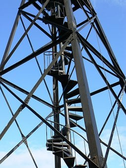 Guard Tower, Tower, Staircase, Architecture, Watchtower